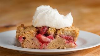 Strawberries & Cream French Toast Bake by Tasty