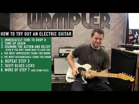 How to try out an electric guitar