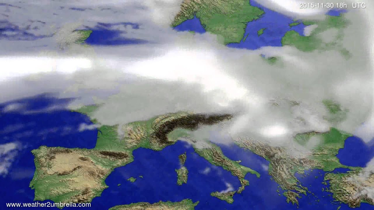 Cloud forecast Europe 2015-11-27