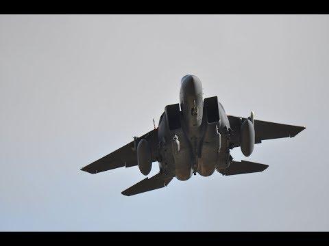 USAF F-15s Landing at RAF Lakenheath 13 February 2018