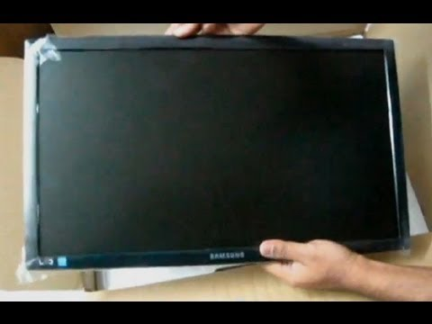 Unboxing and Installation - Samsung LED Monitor S20B300