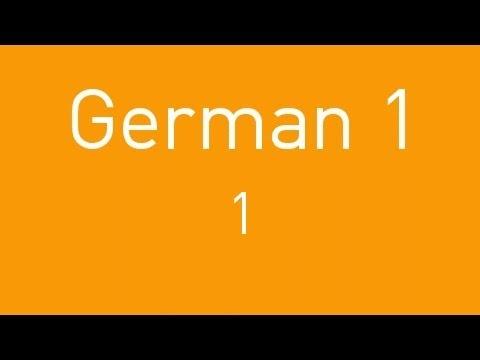 Learn German - Lesson 1 (видео)