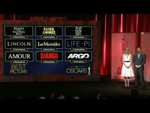 nominations - Seth MacFarlane and Emma Stone reveal the Academy Award nominations for 2013.