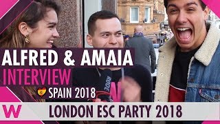 Video Alfred & Amaia (Spain 2018) Interview | London Eurovision Party 2018 MP3, 3GP, MP4, WEBM, AVI, FLV Juni 2018