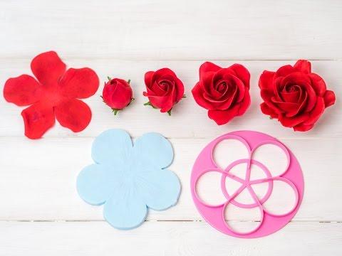 Anleitung Rose aus Blütenpaste (5 Petal Ausstecher - Teil 1)*