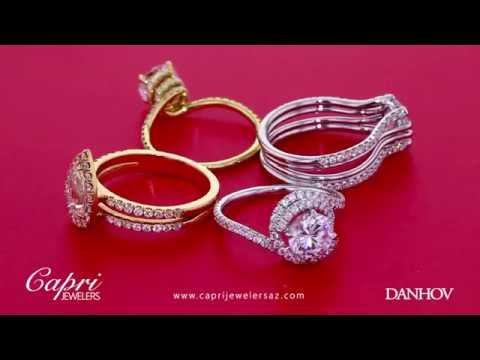 Award winning designer Danhov unique Engagement Rings at Capri Jewelers Chandler