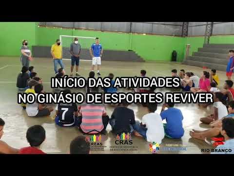 Início das atividades no Ginásio de Esportes Reviver