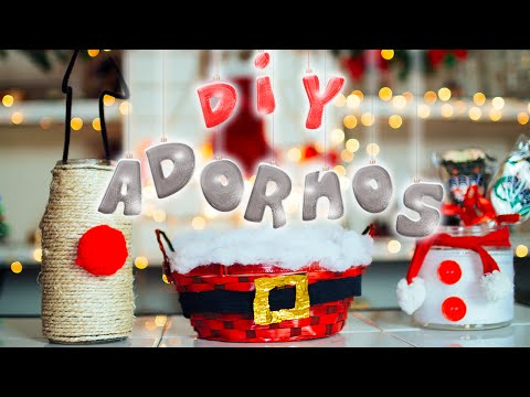 DIY: ADORNOS/DECORACIONES FÁCILES PARA NAVIDAD #NavidadConJime ♥ Jimena Aguilar