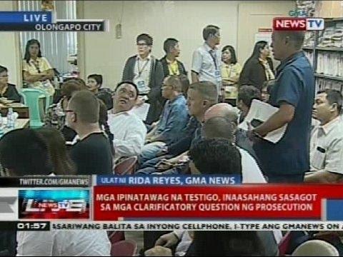 Mga ipinatawag na testigo, inaasahang sasagot sa mga clarificatory question sa prosecution
