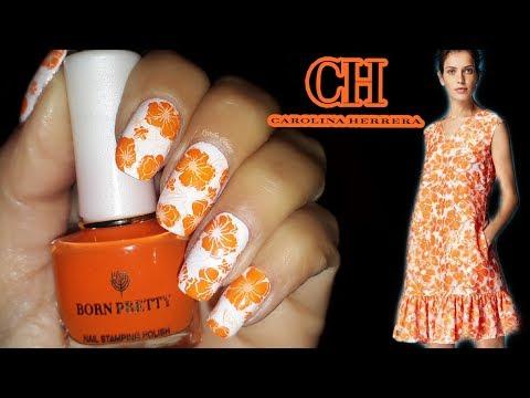 Decorados de uñas - #BornPrettyStore Diseño de uñas inspirado en Carolina Herrera #CarolinaHerrera