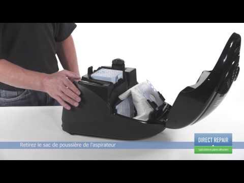 Changer le sac à poussière dans un aspirateur