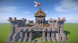 SMALL MINECRAFT CASTLE TUTORIAL ( Survival Castle )