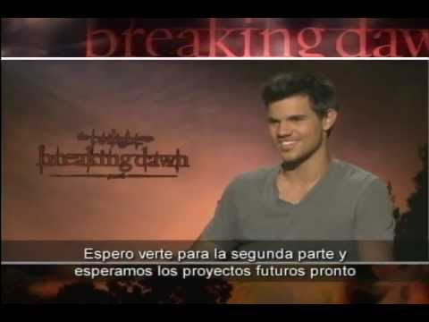 Entrevista Taylor Lautner - Amanecer Pt. 1