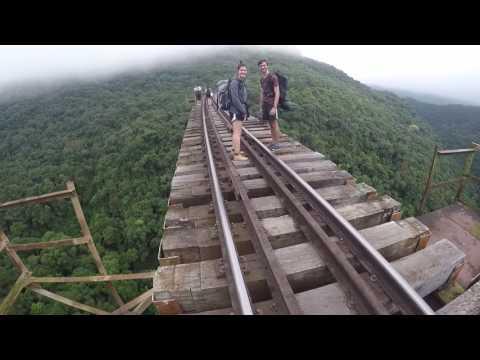 Travessia Ferrovia do Trigo Guaporé - Muçum, Viaduto Pesseguinho, Dois Lajeados RS