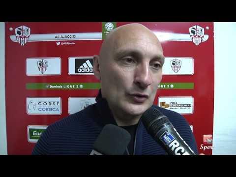AC Ajaccio-Valenciennes : les buts et la réaction d'Olivier Pantaloni