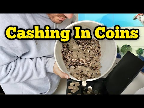 Cashing In A 5 Gallon Bucket of CHANGE | HOW MUCH DID WE GET? /No Fees / ASMR