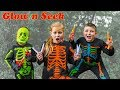 Download Lagu Assistant Plays Spooky Halloween Glow in Seek with Batboy Ryan and Officer Smalls Mp3 Free