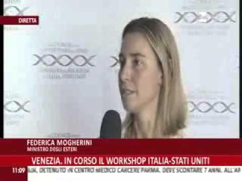 Venezia - Workshop Italia-Stati Uniti, intervista al ministro Mogherini