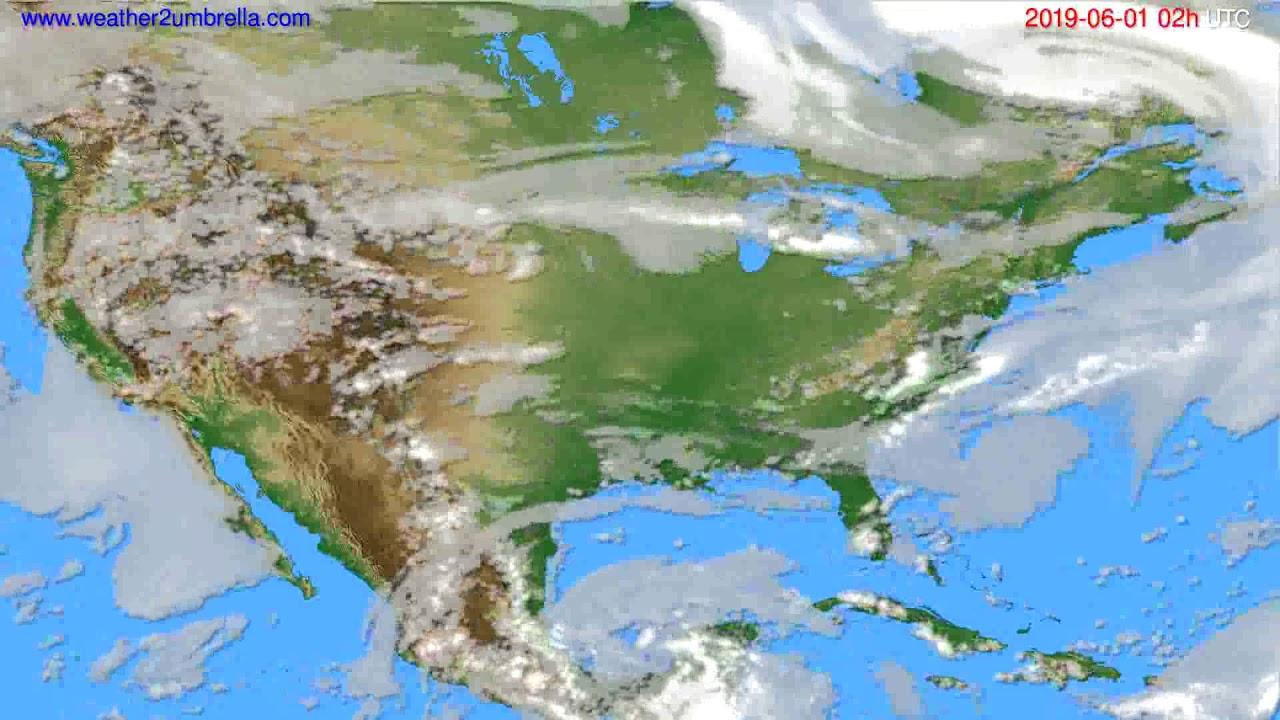 Cloud forecast USA & Canada // modelrun: 00h UTC 2019-05-30