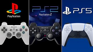 The History and Evolution of PlayStation Controllers ( 1994-2020 ) PS5 DUALSENSE by DigitalModz