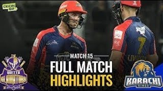 Full Highlights-Quetta Gladiators vs Karachi Kings - HBL PSL 2019 - 15th Match #qg vs kk