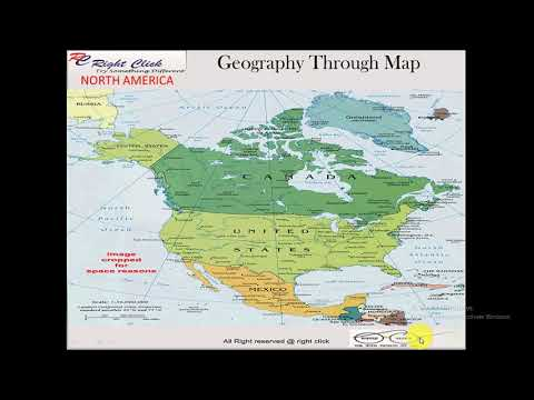 World Geography through MAP in HINDI  NORTH AMERICA Part 1 For UPSC PCS