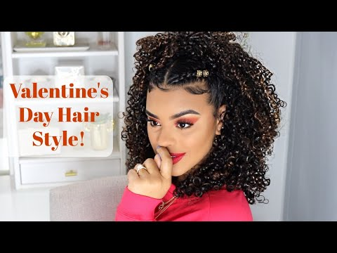 Curly hairstyles - Valentine's Day Hair Style!  Aussie Miracle Curls Line