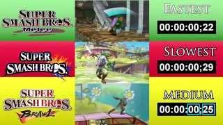 Smash Bros Speed Comparison (Wii U, Melee, Brawl)