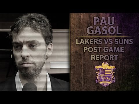 Video: Lakers Vs. Suns: Pau Gasol Talks About Kobe's Improvement, Teams Response To Kobe