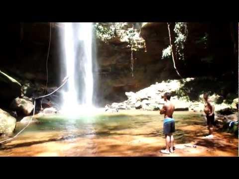 Cachoeira Roncadeira ou do Roncador em Taquarussu, Palmas-TO, Brasil