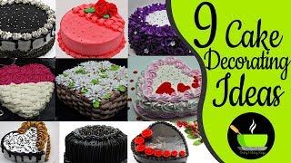 9 Cake Decorating Tutorials | Cake Decorating Ideas | Homemade Easy Cake Designs
