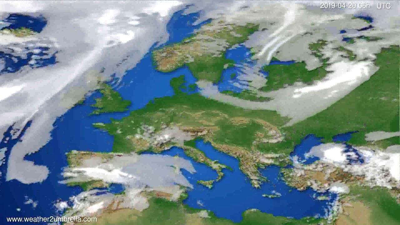 Cloud forecast Europe // modelrun: 12h UTC 2019-04-17