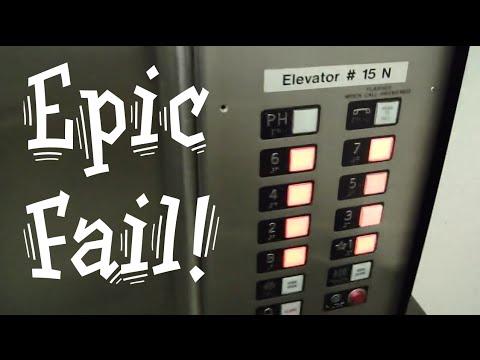 Epic elevator fail. Stuck at Penthouse Steinberg elevators Otis elevator (видео)