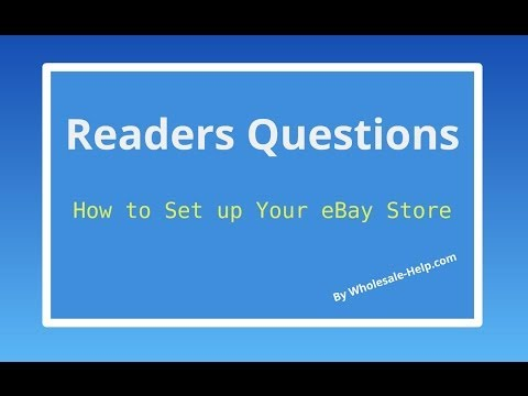 how to open ebay store