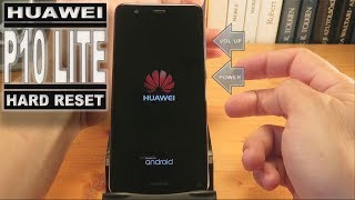Learn how you can hard reset the Huawei P10 Lite  with button. Remove forgotten password or  pattern lock and reset all factory state.