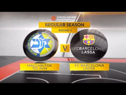 EuroLeague Highlights RS Round 5: Maccabi FOX Tel Aviv 69-79 FC Barcelona Lassa