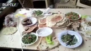 Серия терактов в Дамаске: взрывы прогремели в здании суда и ресторане (18+)
