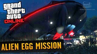 """How to unlock the secret Alien Egg supply mission in GTA Online: GunrunningIn order to trigger this mission you have to complete at least 600 resupplies. Once you have reached this number, start a new supply run between 21:00 and 23:00.Apparently there's no timer for this mission, nor rewards or unlocks for completing it.To achieve the goal in the fastest time possible we divided the team in three sub-teams (also with the help from some of our friends) working at the same time on sales, supplies and crates due to the fact that one of the required variables was the number """"600"""".Since we had our doubts on what the number was tied to, with almost a week of non-stop 24 hours grinding taking turns, we all reached the number 600 in sales, supplies and crates, and then we continued trying to unlock the mission during the 21:00-23:00 time frame.===================================Video recorded on: PC with all maxed out settings=================================== GTA Series Videos is a dedicated fan-channel keeping you up to date with all the latest news, video walkthroughs and official trailers of the most successful video games published by Rockstar Games, including Grand Theft Auto series, Red Dead Redemption, Max Payne, L.A. Noire, Bully and many others.This channel is in no way tied to Rockstar Games or Take-Two Interactive.Follow GTA Series Videos on: YouTube - http://www.youtube.com/GTASeriesVideos Google+ - http://www.google.com/+GTASeriesVideos Facebook - http://www.facebook.com/GTASeriesNews Twitter - http://www.twitter.com/GTASeries"""