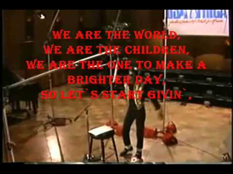 Michael Jackson - We Are the World Solo Version With Lyrics