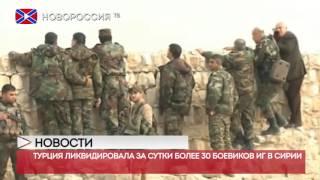 Турция ликвидировала за сутки более 30 боевиков ИГ в Сирии