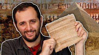 COMO FAZER PAPIRO, o papel antigo do Egito