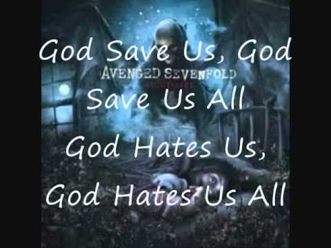 God Hates Us - Avenged Sevenfold with Lyrics