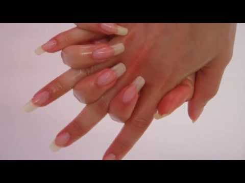 Massage with oil on my long Natural nails - dani 89 (video 42)