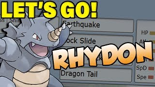 Pokemon Let's Go Rhydon Moveset! How To Use Rhydon! by Verlisify