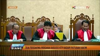 2 mantan pejabat Kementerian Dalam Negeri yang menjadi terdakwa kasus megakorupsi KTP elektronik Irman dan Sugiharto akan menghadapi vonis hakim. Jaksa menilai Irwan dan Sugiharto secara sah dan meyakinkan telah memperkaya diri sendiri, orang lain dan korporasi lewat proyek KTP elektronik yang merugikan negara hingga Rp.2,3 triliun
