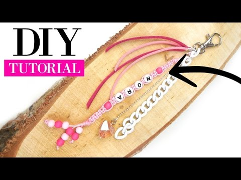 How To Make A Macramé Keychain -  DIY Video Jewelry Making Tutorial