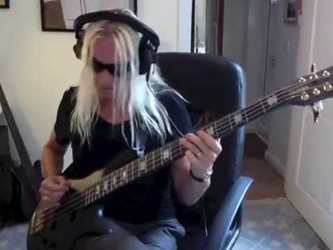 Beggs - Played on a Spector 8 String bass.