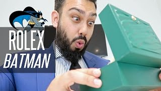 """Unboxing my brand new Rolex GMT Master 2 - 116710 blnr also known as the infamous Rolex Batman for its blue and black colours. For vlogs subscribe to: http://emkwan.com/vlogs✩ Twitter - http://www.twitter.com/emkwan✩ Instagram - http://www.instagram.com/emkwan✩ Snapchat - @EMKWAN✩ Blog/Website - http://emkwan.com✩ FaceBook - http://www.facebook.com/emkwan.page__Shot on a Canon G7X, Sometimes a Canon Legria Mini X or Go Pro Hero 4 Session__FAQs:- How old are you? - 33- Where do you live? - Abu Dhabi, UAE- What Phone(s) do you use? - iPhone 7 Plus- What is your job? - Lecturer and Working with brands on social media- What editing program do you use? - iMovie, FCPX and Motion- How long do your vlogs take to edit? - They vary from 15mins - 3 hours +- Where are you originally from? - Born and raised in the UK, Leicester- Are you guys Emirati? - Nope. We are expats from the UK- Are you guys married? How long have you been married? - Yes. Just past the 5 year mark- How do you wear your head gear? - I made a tutorial here http://youtu.be/x6_hA3zM6MA- What sun glasses do you wear? - Rayban Aviators and Justins- Can you get me a job in Dubai? - no sorry, I'm not in recruitmentStill got questions? Submit your questions here #AskEMKWANhttp://emkwan.com/ask__Peace and BlessingsEMKWAN REVIEWS is a weekly channel set up by EMKWAN for unboxing, reviews on technology, cars, watches and lifestyle.EMKWAN is an award winning YouTuber, Digital and Social Media Influencer who is regarded as """"One of the UAE's leading video bloggers."""" (Esquire Magazine). Originally from the UK now based in Abu Dhabi. In 2015, EMKWAN was handed the Esquire Magazine's Digital Influencer award and selected as one of AHLAN!'s Hot 100 Influencers of the Middle East."""