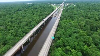 Breaux Bridge (LA) United States  city photo : Atchafalaya Basin Bridge. Breaux Bridge, Louisiana. 4K. #1