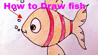 Drawing-How To Draw Fish And Colour For Kids Art
